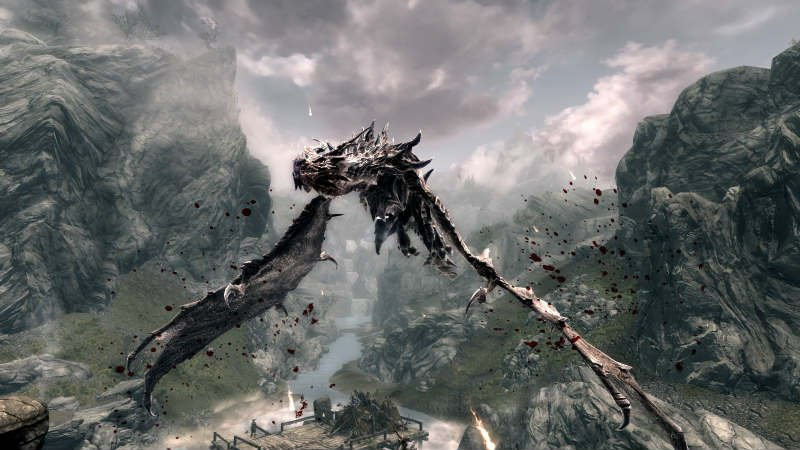 Skyrim Превращение в дракона  YouTube